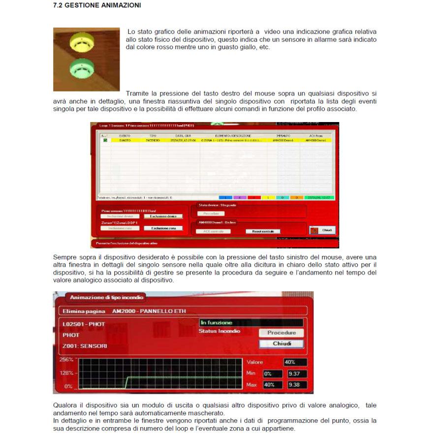 Sistema di controllo rivelazione incendi con mappe videografiche 1