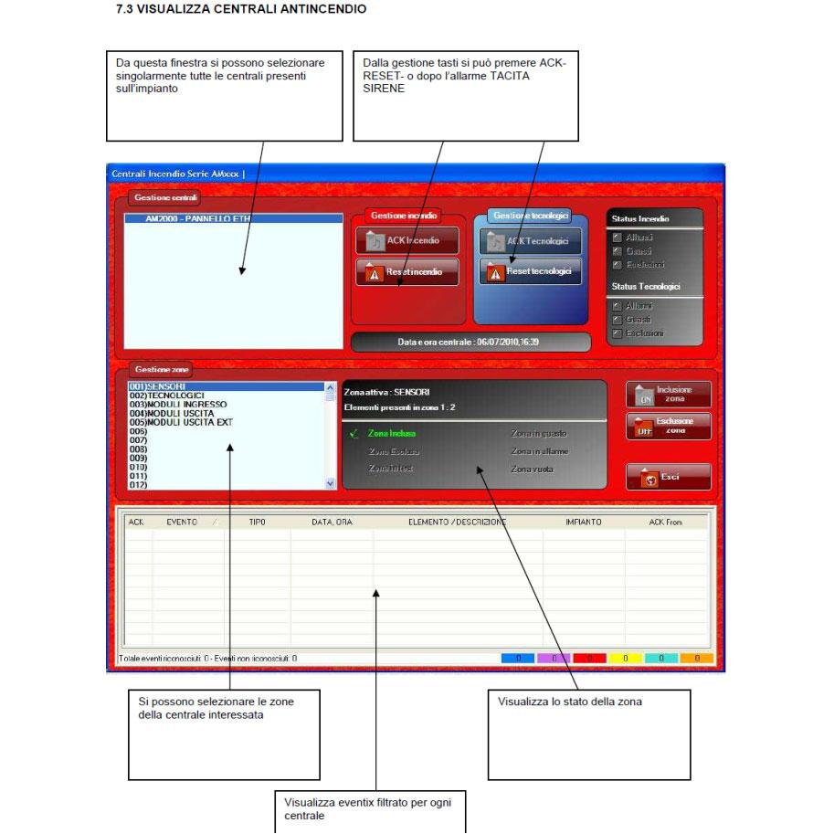 Sistema di controllo rivelazione incendi con mappe videografiche 3