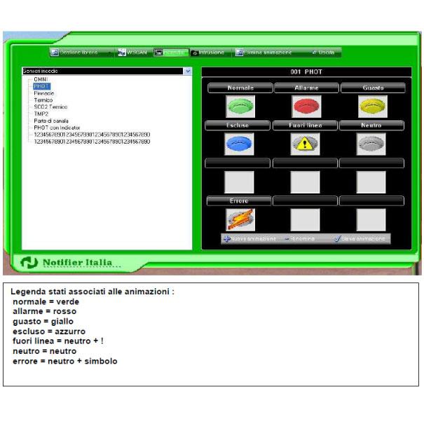 Sistema di controllo rivelazione incendi con mappe videografiche 4
