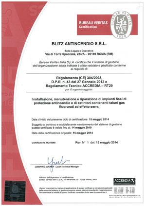 Certificazione ACCREDIA-FGAS