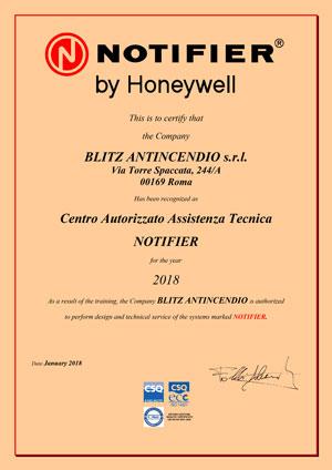 Certificazione CENTRO-ASSISTENZA-NOTIFIER