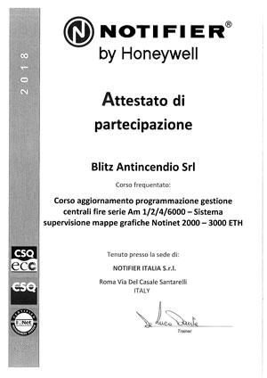 Certificazione CORSI-NOTIFIER