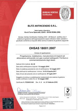 Certificazione OHSAS-18001